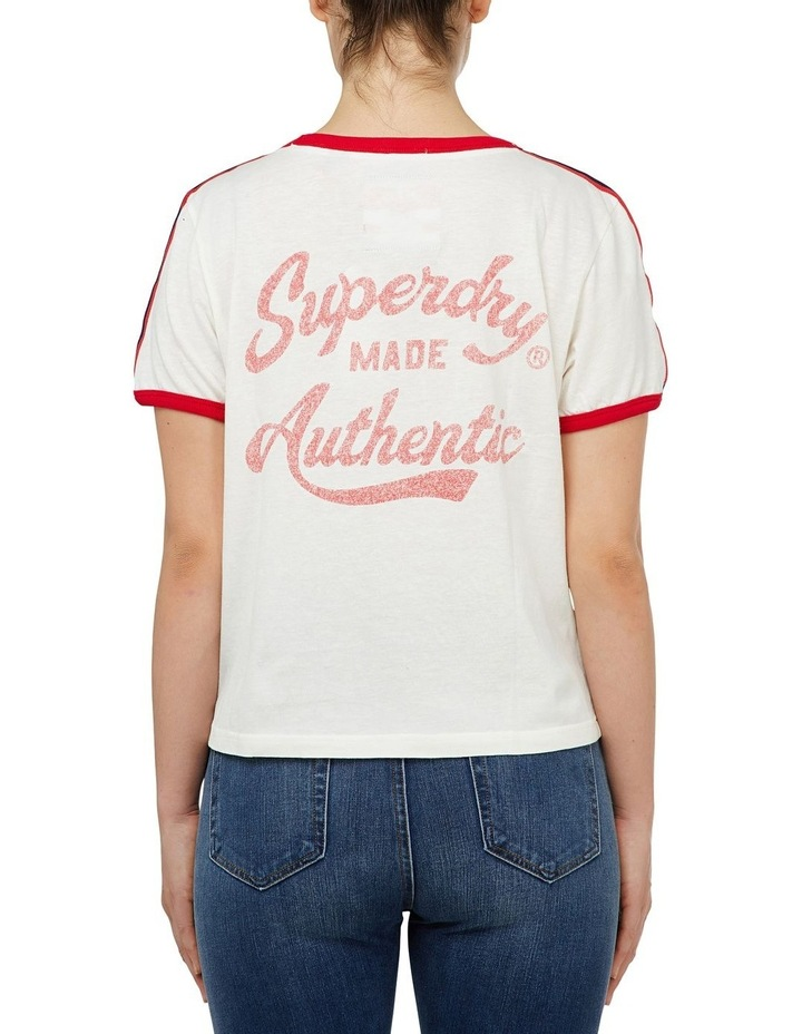 Heritage Embroidery Ringer Boxy Tee image 3