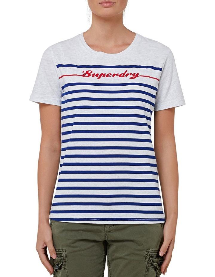 Linear Script Stripe Entry Tee image 1