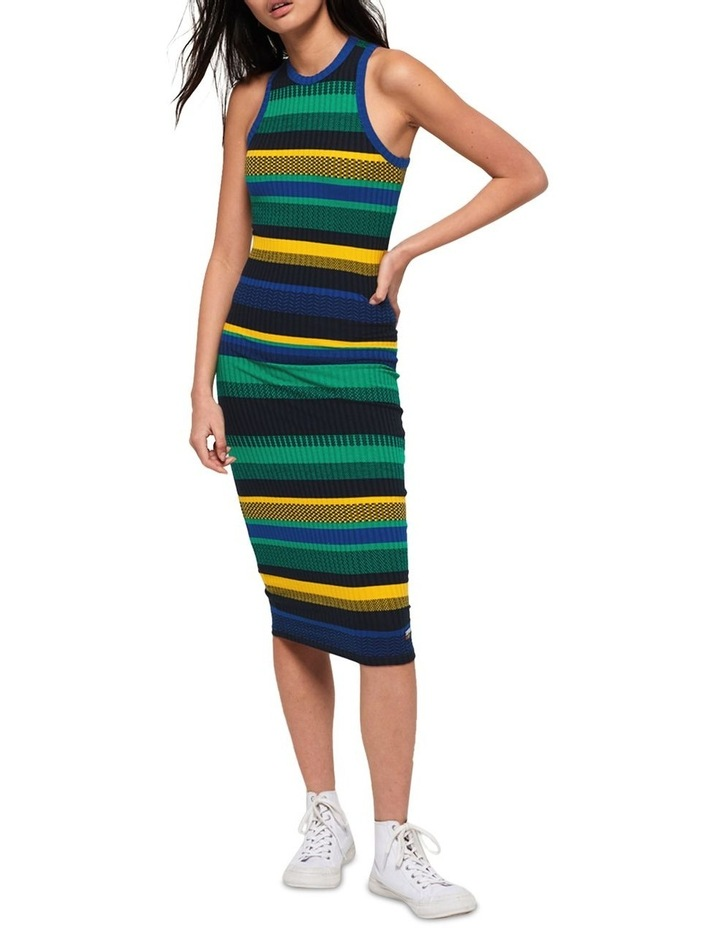 Knitted Stripe Midi Dress image 1