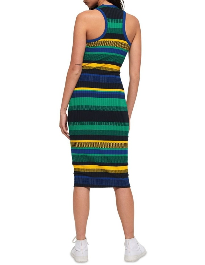 Knitted Stripe Midi Dress image 3