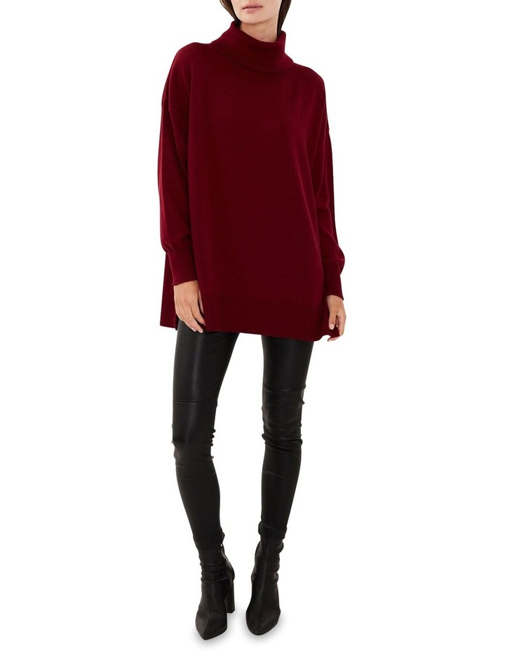 Wool Roll Neck Knit Red image 2