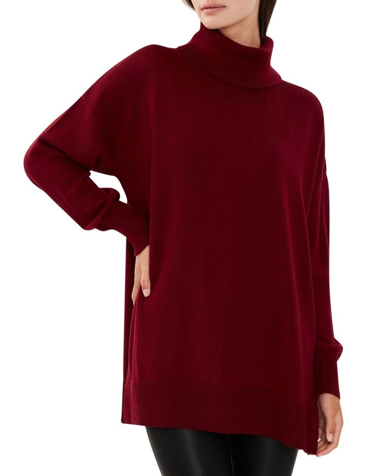 Wool Roll Neck Knit Red image 4