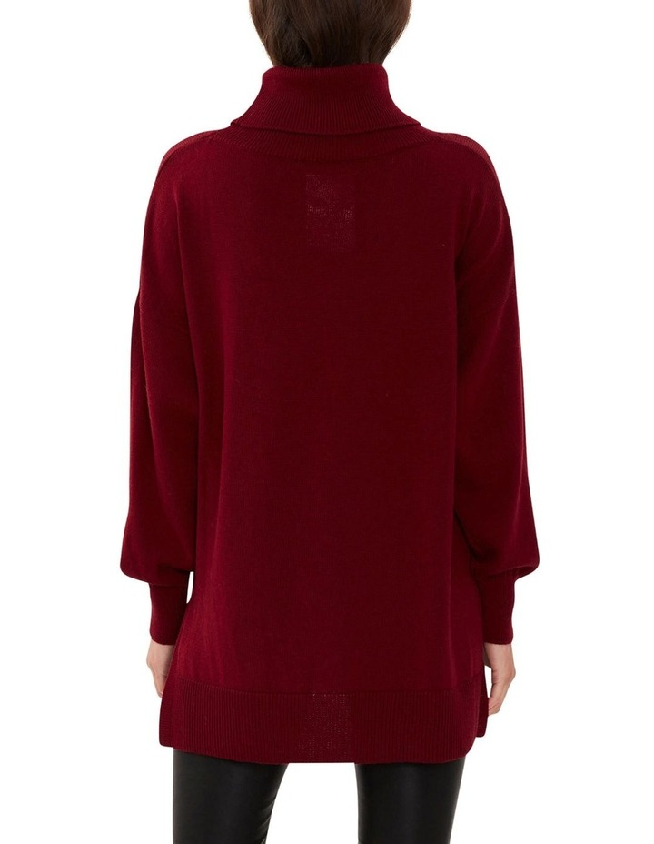 Wool Roll Neck Knit Red image 5