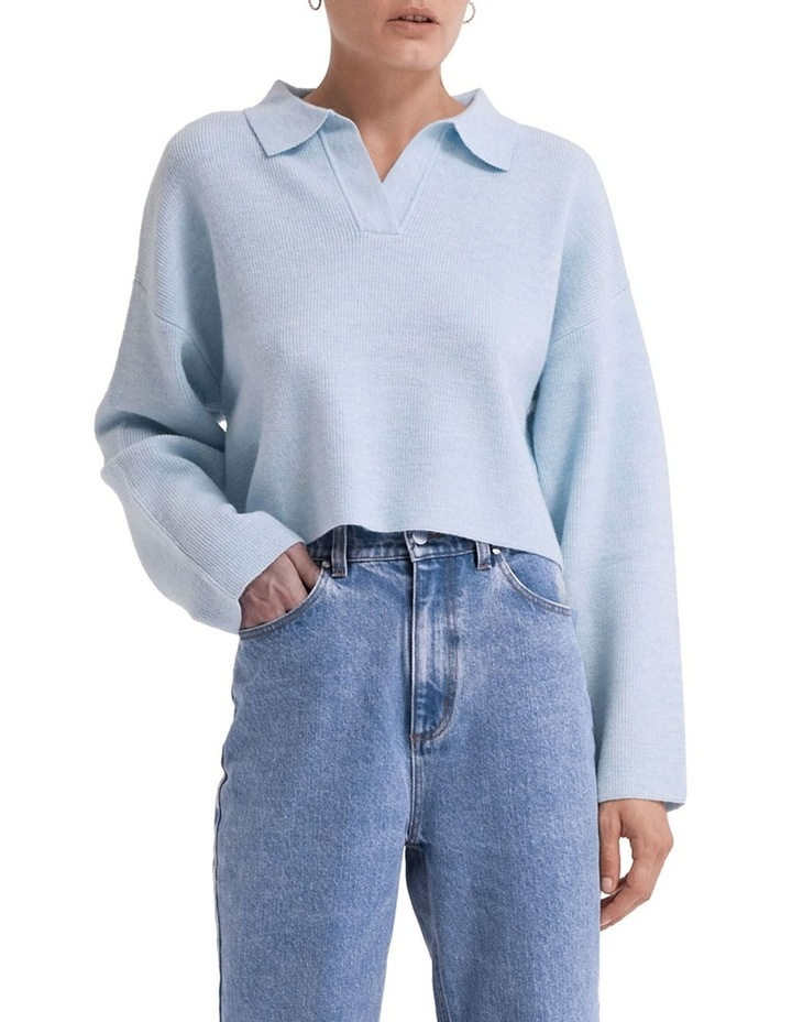 Oversized Collared Knit image 1
