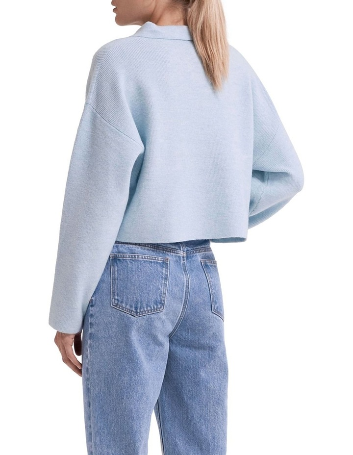 Oversized Collared Knit image 2