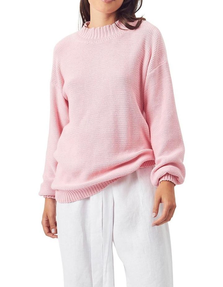 Fishermans Knit Jumper Pink image 1