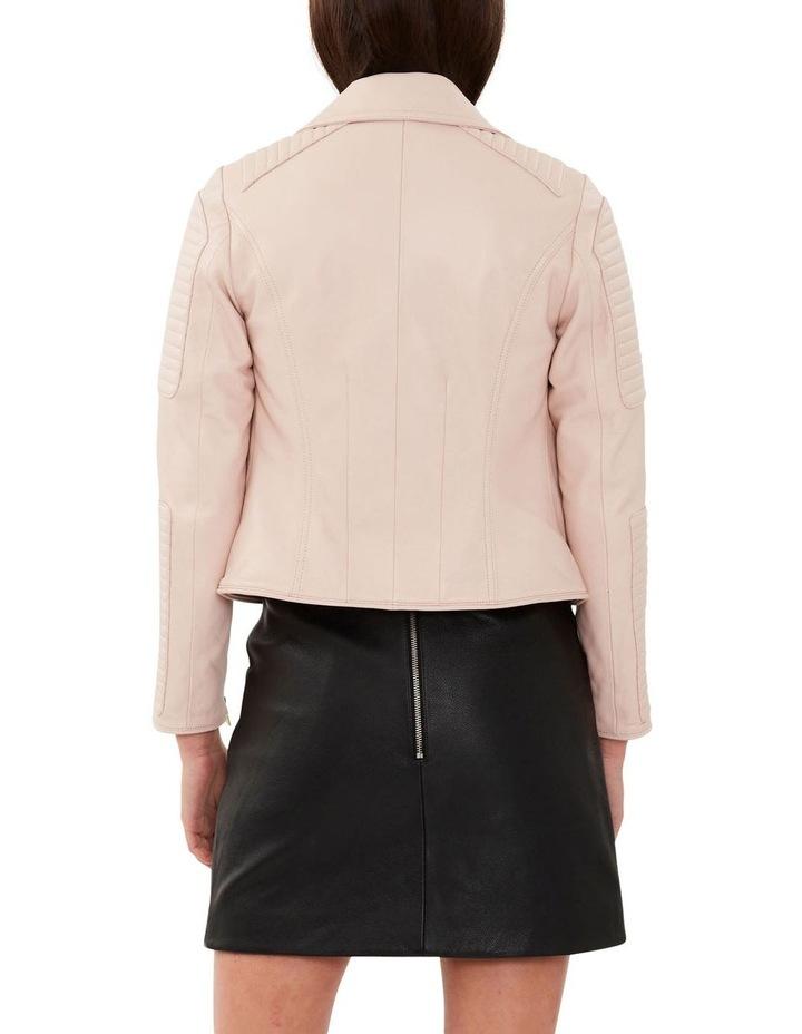 Blush Leather Biker Jacket image 4