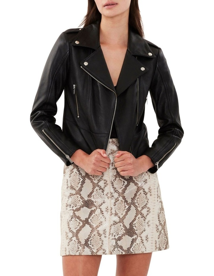 All Day Black Leather Jacket image 2