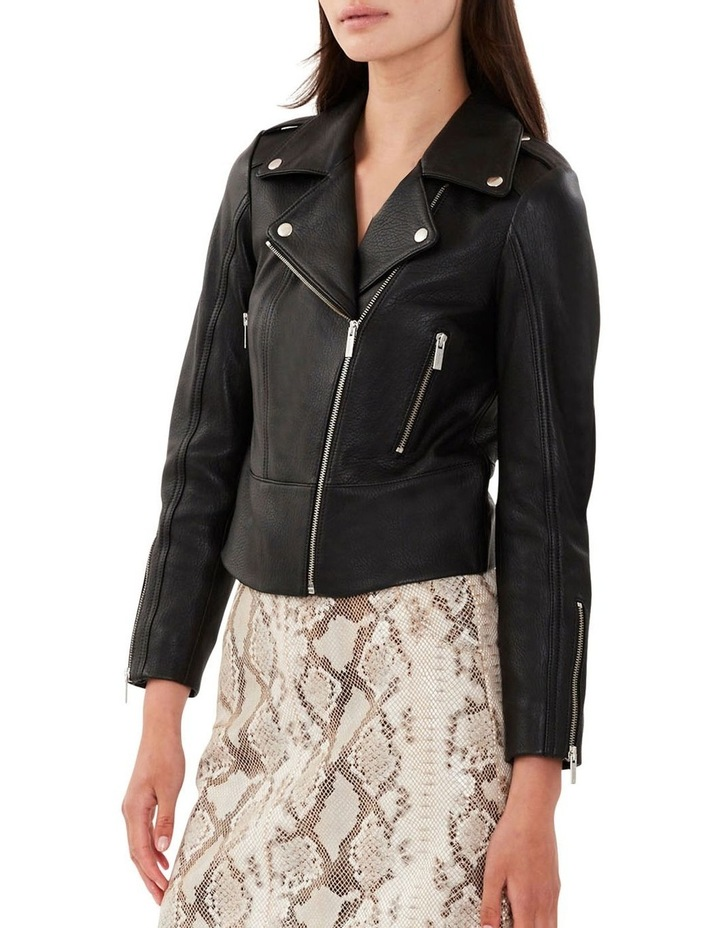 All Day Black Leather Jacket image 4