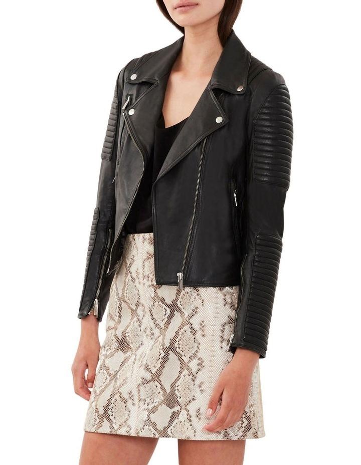 Nouveau Ella Black Leather Biker Jacket image 1