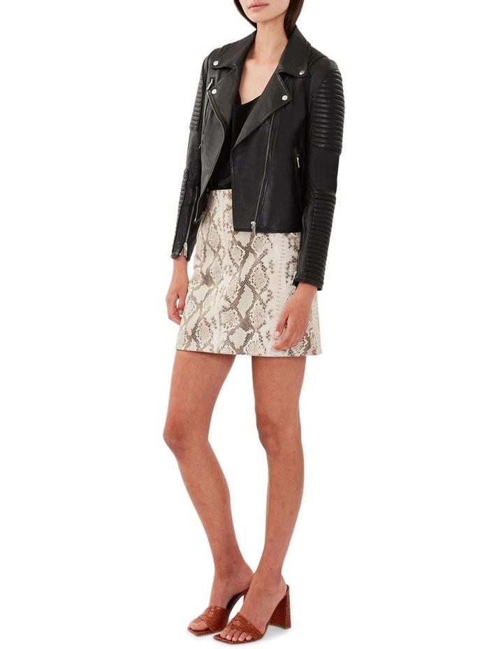 Nouveau Ella Black Leather Biker Jacket image 3