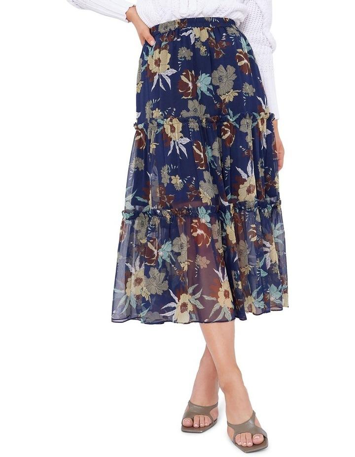 Valentine Silk Midi Skirt image 1