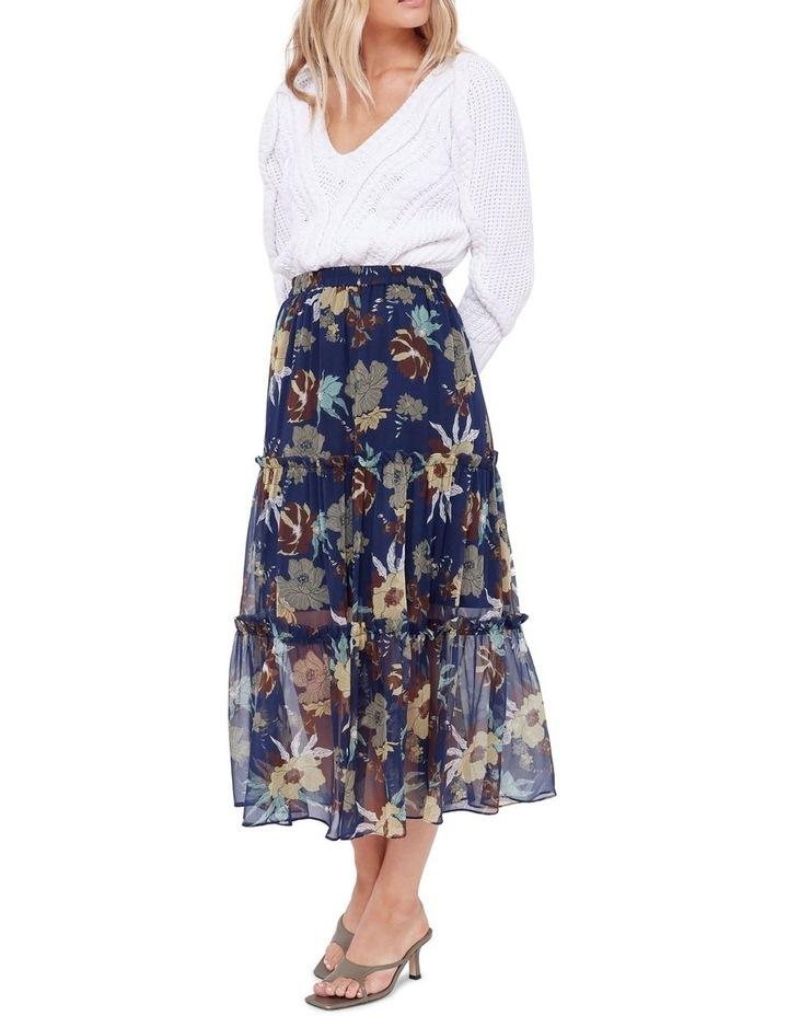 Valentine Silk Midi Skirt image 4