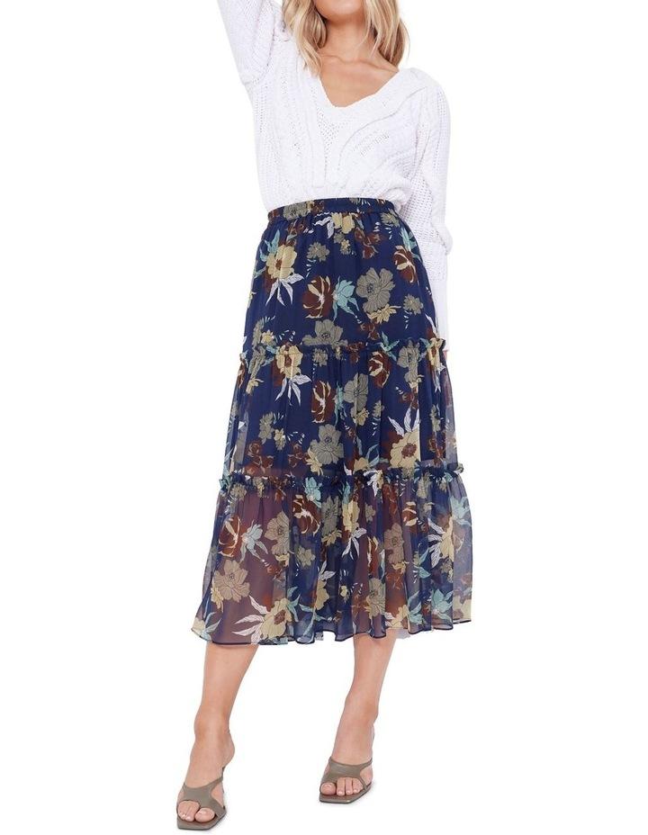 Valentine Silk Midi Skirt image 5