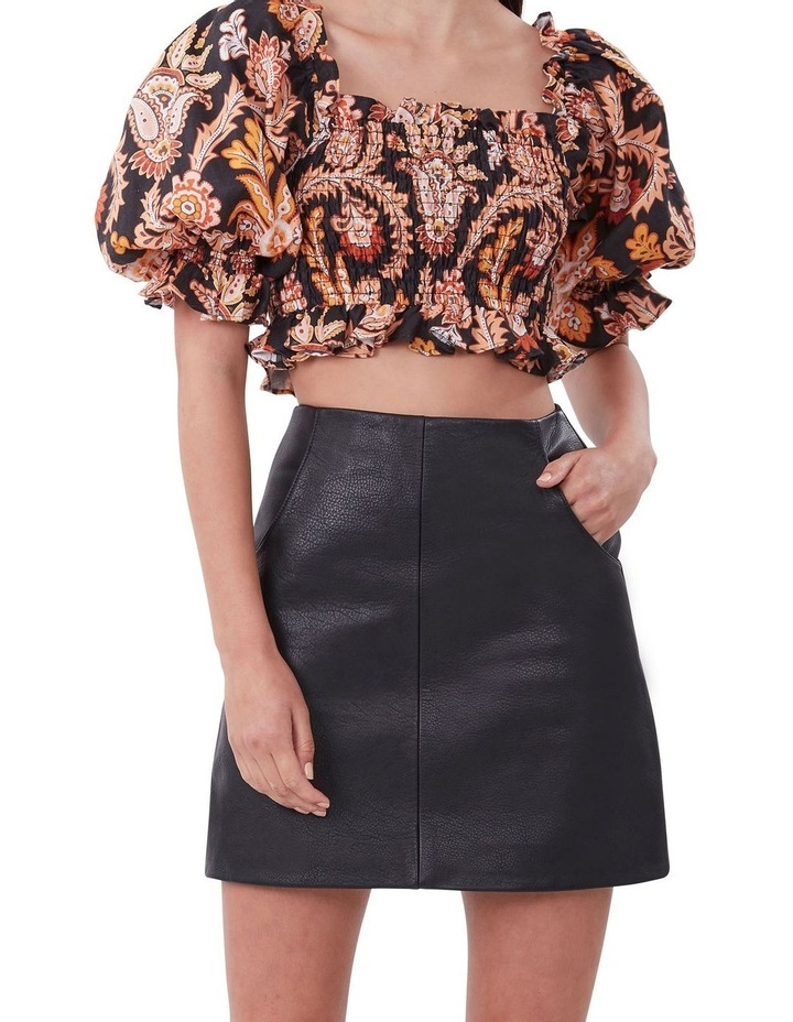 A Line Leather Skirt image 1