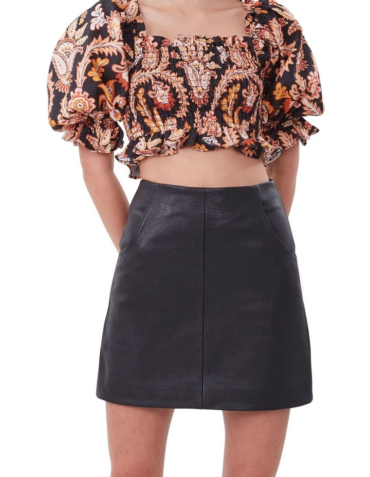 A Line Leather Skirt image 2