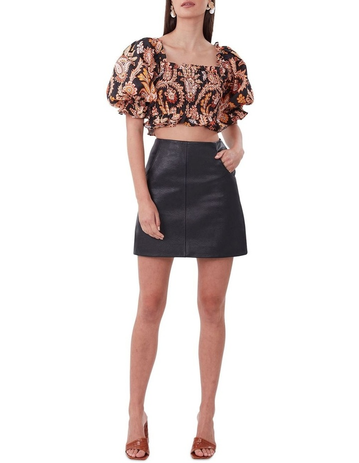 A Line Leather Skirt image 3