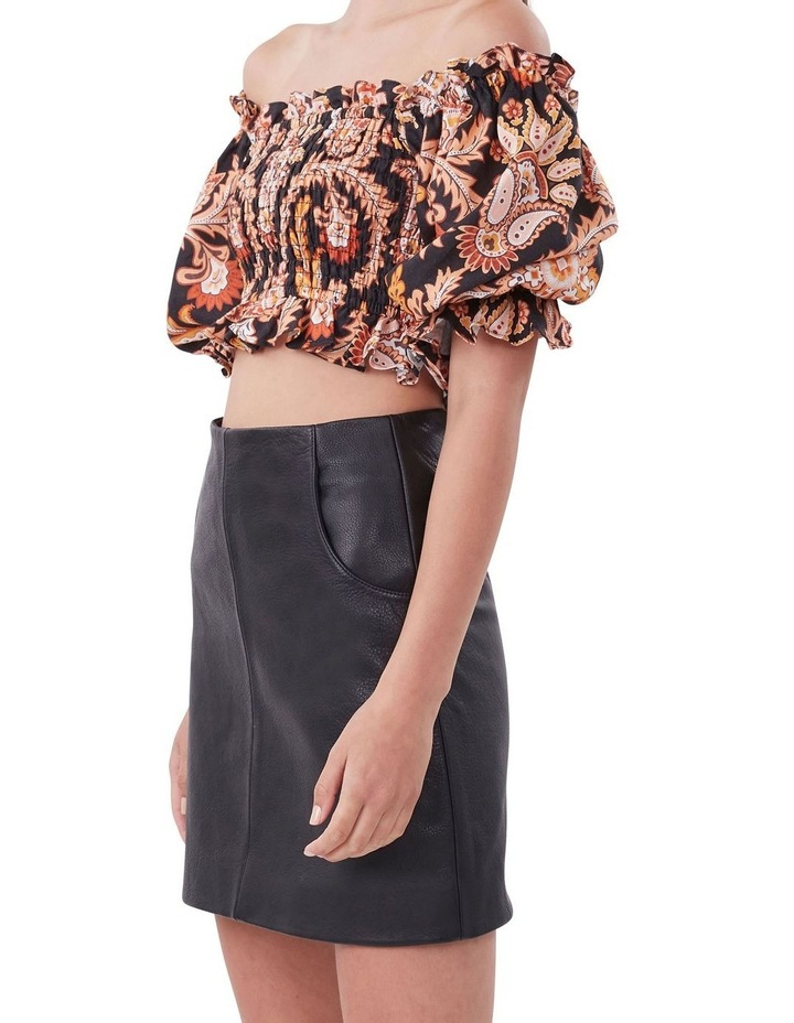 A Line Leather Skirt image 4