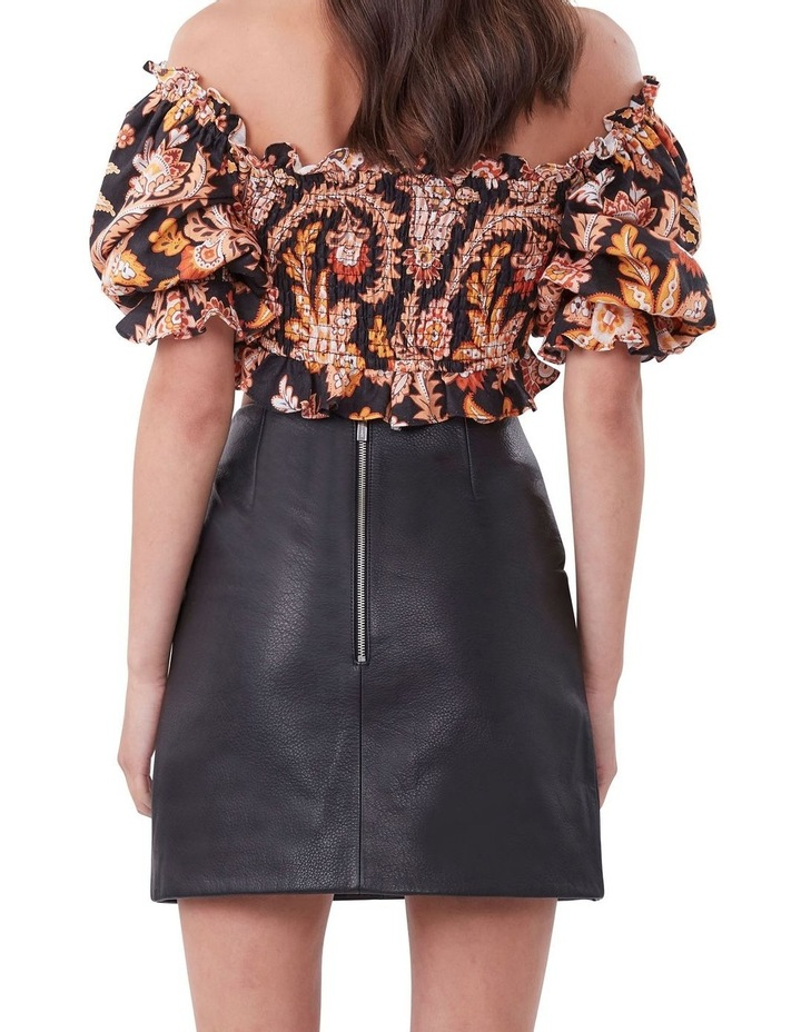 A Line Leather Skirt image 5