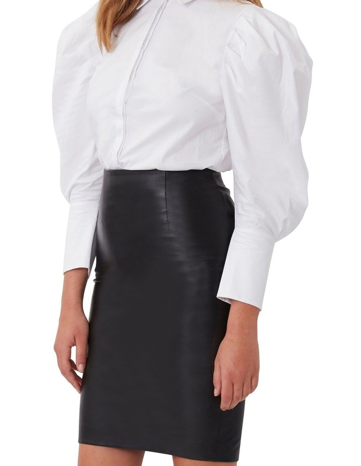 Classic Leather Pencil Skirt image 1
