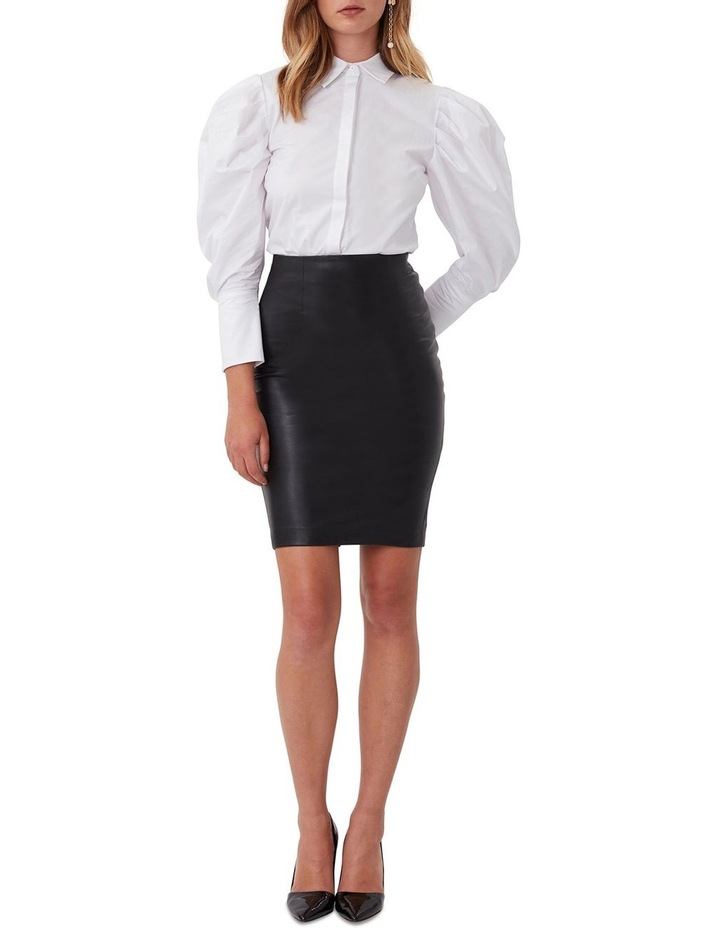 Classic Leather Pencil Skirt image 2