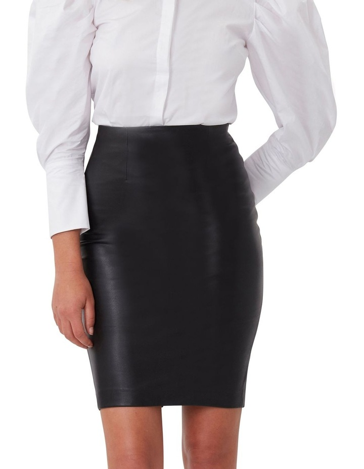 Classic Leather Pencil Skirt image 3