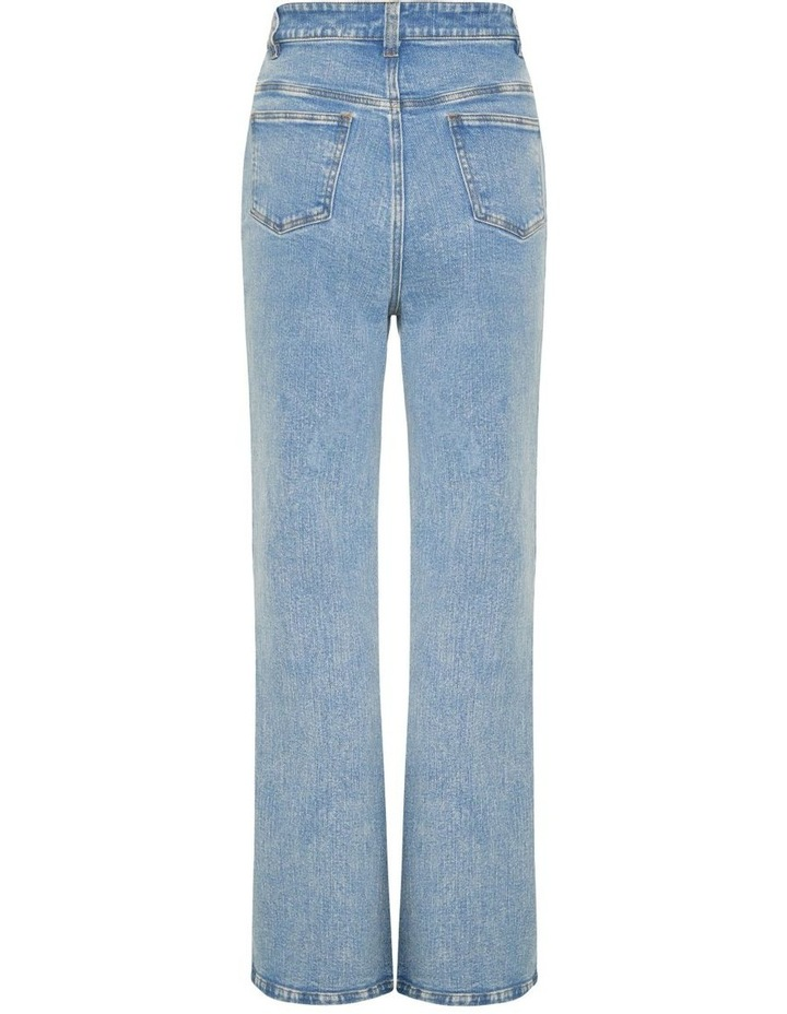 On The Straight And Narrow Washed Blue High Waisted Jean image 3