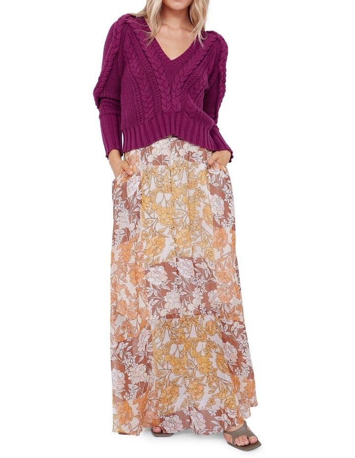 Camille Silk Maxi Skirt image 2