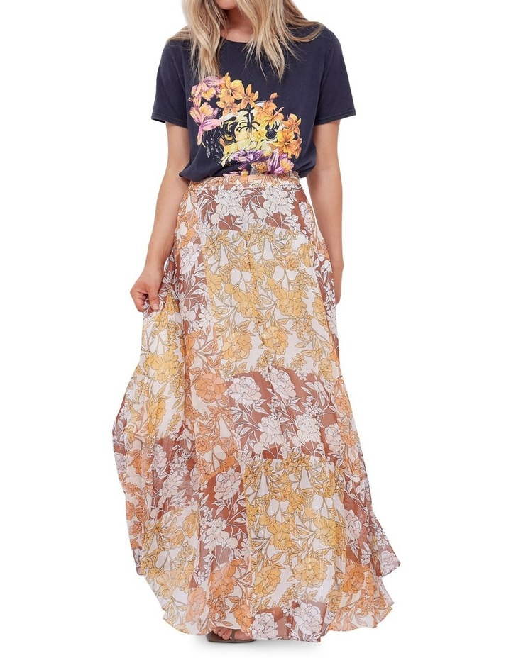 Camille Silk Maxi Skirt image 4