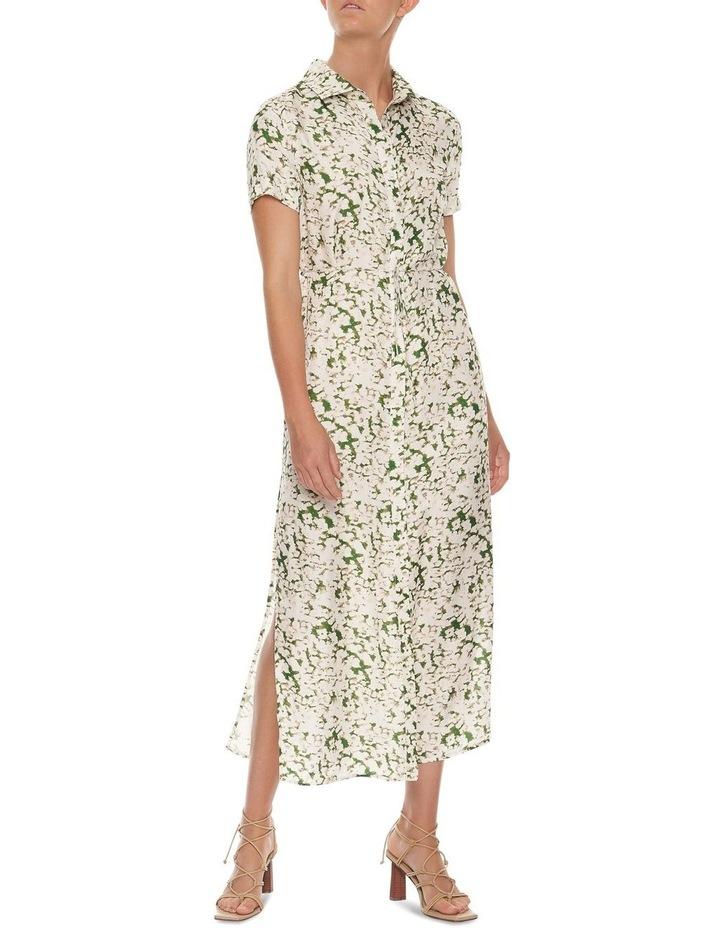 Pressed Flowers Maxi Shirt Dress image 1
