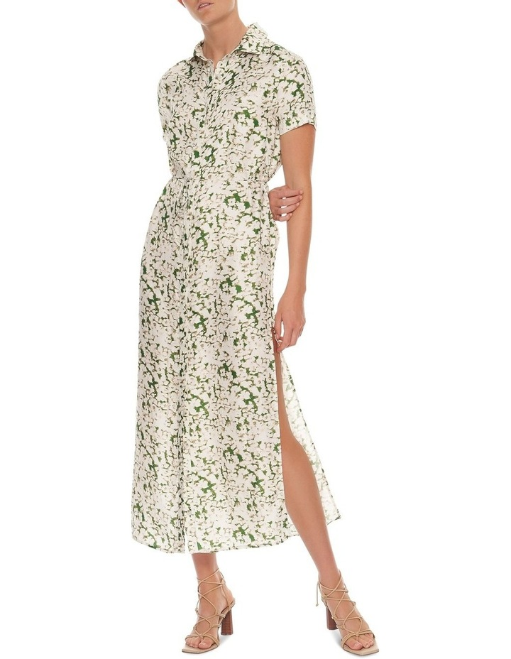 Pressed Flowers Maxi Shirt Dress image 2