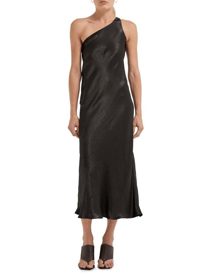 Running Water Bias One Shoulder Slip Dress image 1