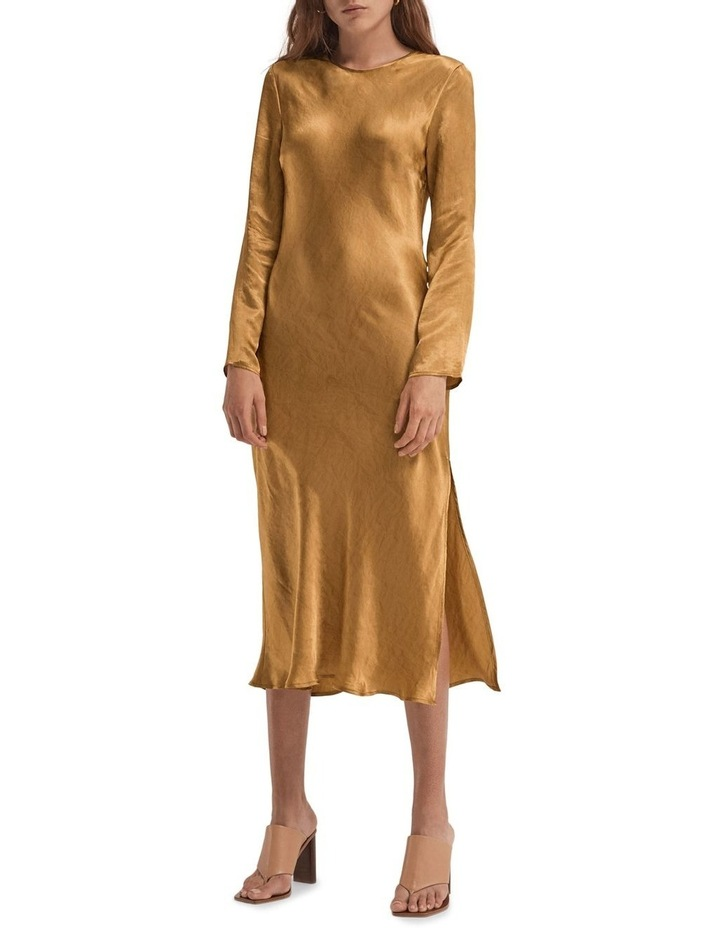 Running Water Bias Long Sleeve Dress image 1