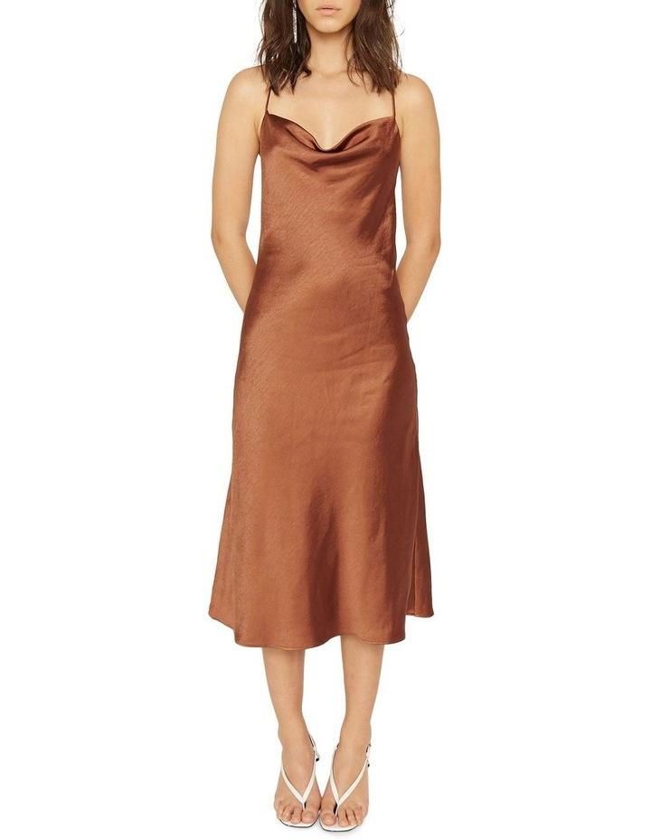 Cross Back Cowl Bias Slip Dress image 1