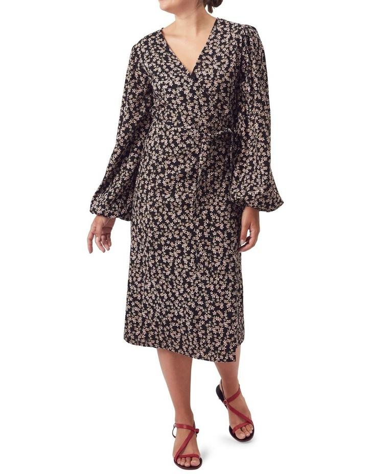 London Wrap Midi Dress image 4