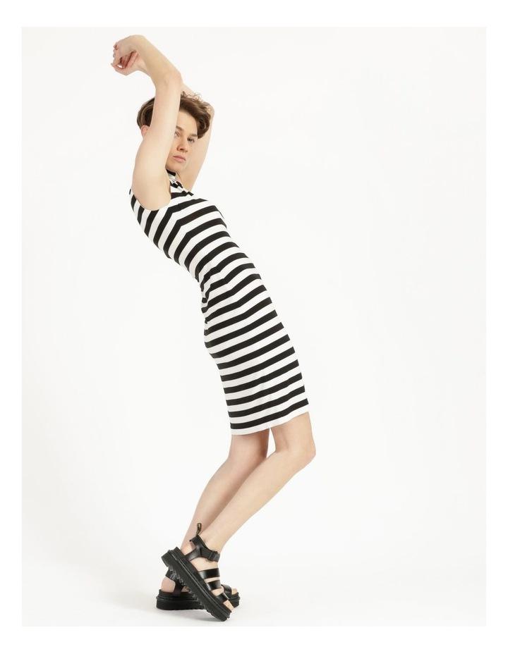 Slim Fit Sleeveless Turtle To Knee Dress image 3