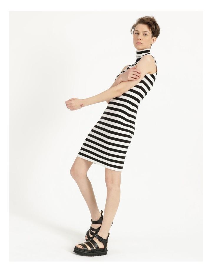Slim Fit Sleeveless Turtle To Knee Dress image 6