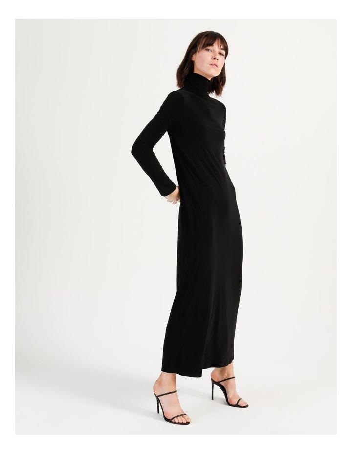 Long Sleeve Turtleneck Gown Black image 1