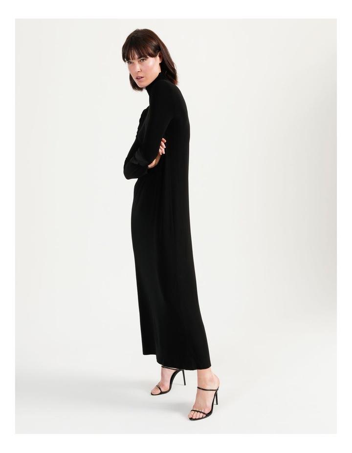 Long Sleeve Turtleneck Gown Black image 2