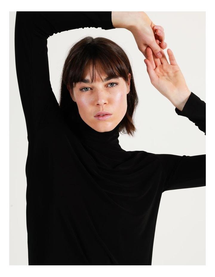 Long Sleeve Turtleneck Gown Black image 3