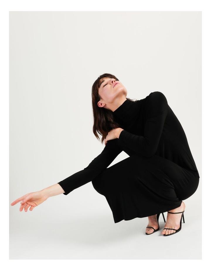 Long Sleeve Turtleneck Gown Black image 4