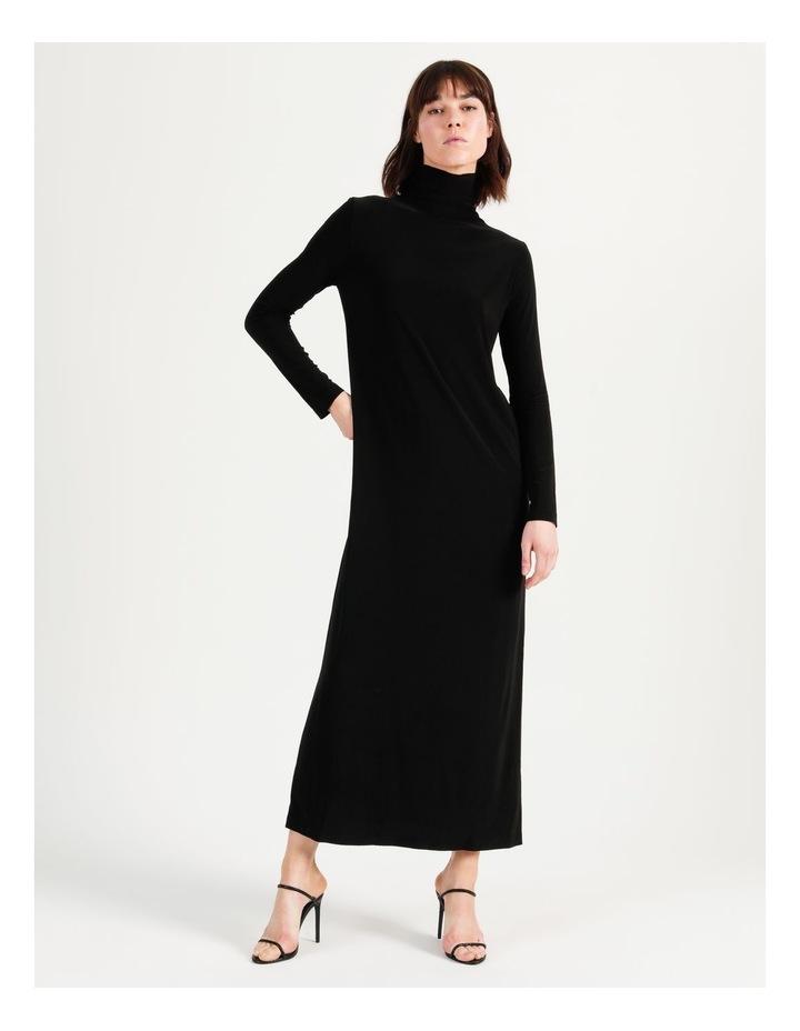 Long Sleeve Turtleneck Gown Black image 6