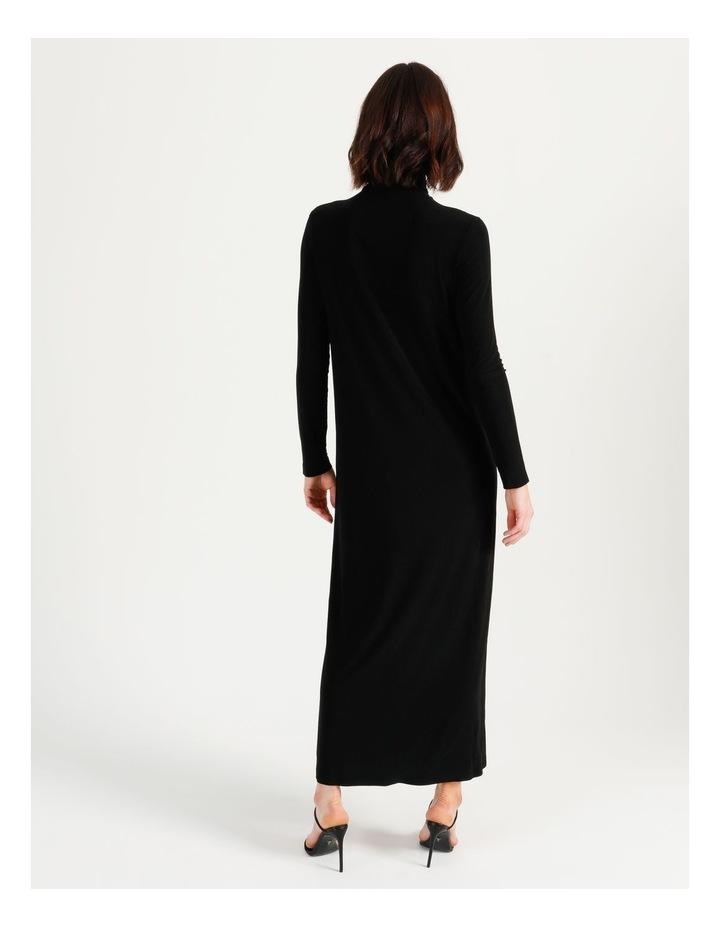 Long Sleeve Turtleneck Gown Black image 7