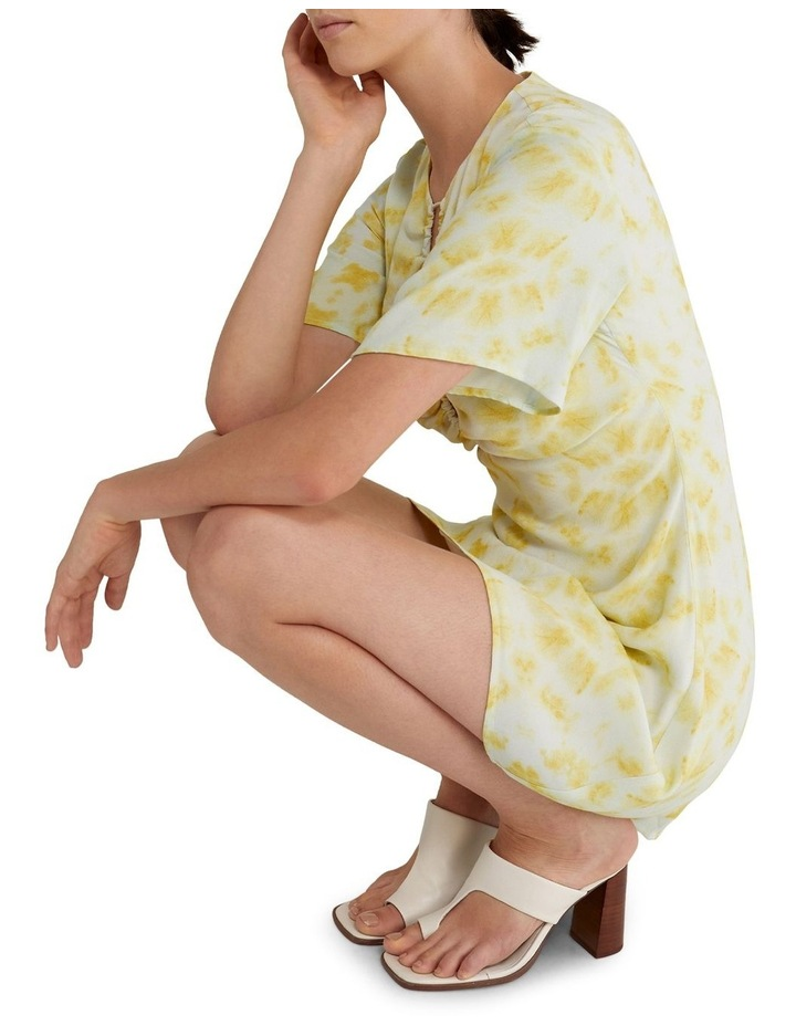 Ring-Out Tee Dress Tie-Dye Yellow image 7