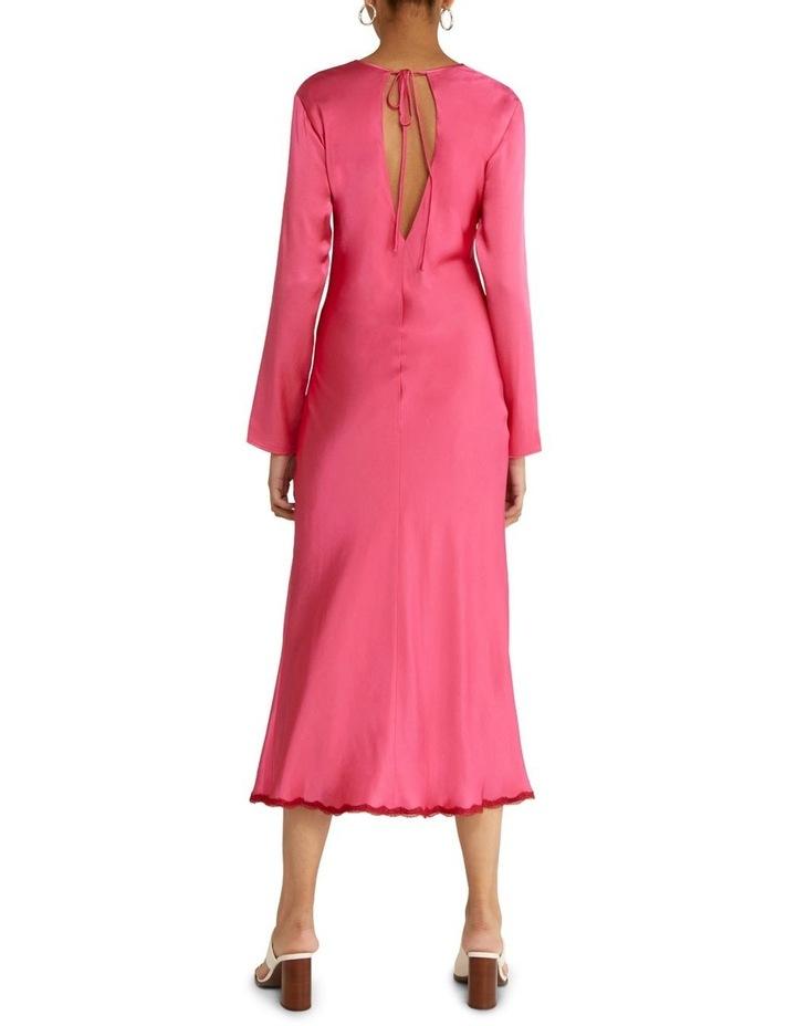 Last Dance Long Sleeve Bias Maxi Dress Magenta image 2