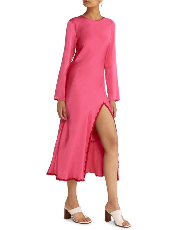 Last Dance Long Sleeve Bias Maxi Dress Magenta image 3