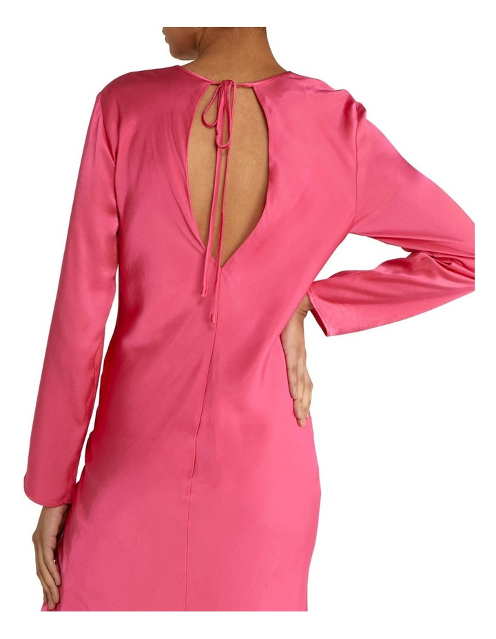 Last Dance Long Sleeve Bias Maxi Dress Magenta image 5