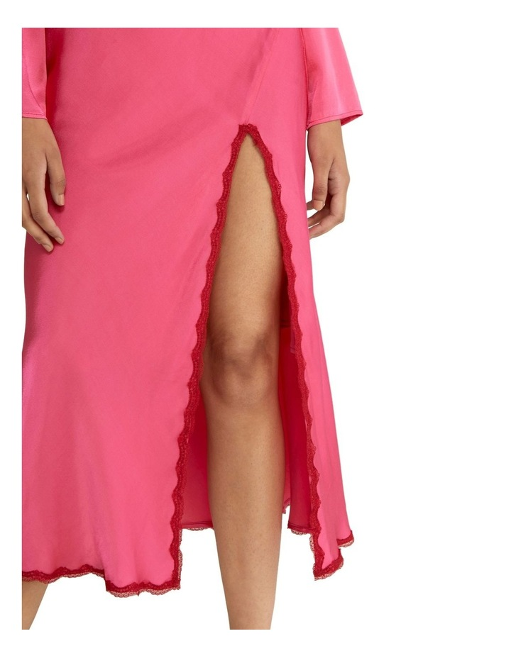 Last Dance Long Sleeve Bias Maxi Dress Magenta image 6