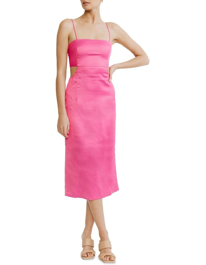 Peek Through Midi Fuschia Pink image 1