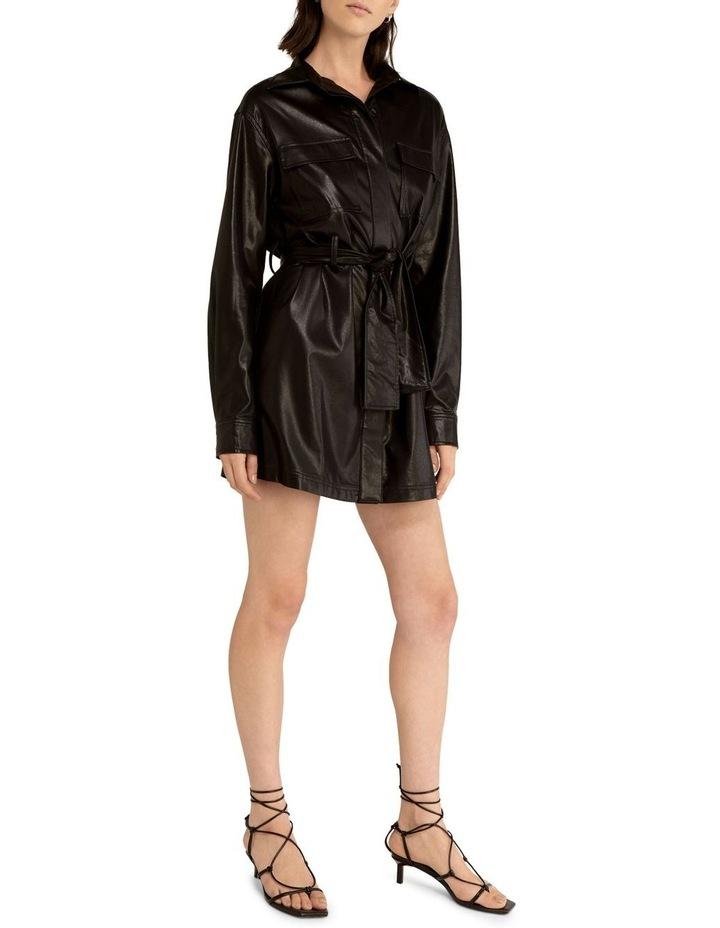 Slick Rick Pu Shirt Dress image 1